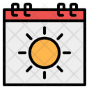 Summer Calendar Symbol Weekend Icon