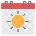 Summer Calendar Symbol Weekend Icon