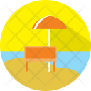 Summer Beach Vacation Icon