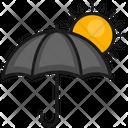 Summer Sun Umbrella Icon