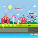 Summer Carnival Background Icon