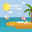 Summer Time Background Icon