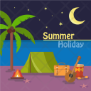 Summer Holiday Background Icon