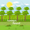 Summer Forest Background Icon