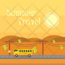 Summer Travel Background Icon