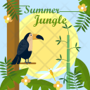 Summer Jungle Background Icon