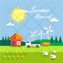 Summer Harvest Background Icon