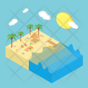 Summer Beach Holiday Icon