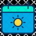 Date Sunny Day Sunny Season Icon