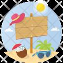 Summer Beach Billboard Icon
