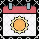 Calendar Sun Event Icon