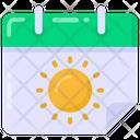 Reminder Summer Calendar Almanac Icon