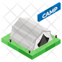 Summer Camp Campsite Outdoor Shelter Icon