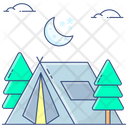 Summer Camp Camping Tent Icon