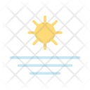 Summer Flat Sunset Icon