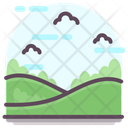 Summer Landscape Countryside Scenic Landscape Icon