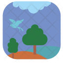 Summer Night Park Icon