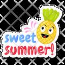 Summer Pineapple Icon
