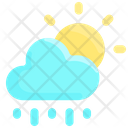 Cloud Sun Rain Icon