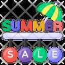 Season Sale Summer Sale Holiday Sale Icon