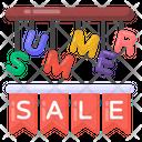 Summer Sale Label Summer Sale Ribbon Summer Sale Banner Icon