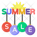Summer Sale Coupons Summer Sale Labels Summer Sale Icon