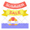 Summer Sale Labels Summer Sale Ribbons Summer Sale Coupons Icon