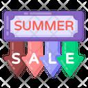 Summer Sale Label Summer Sale Emblem Summer Sale Coupon Icon