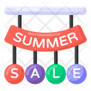 Summer Sale Labels Summer Sale Ribbon Summer Sale Coupons Icon