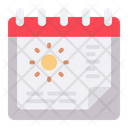 Summer Season Summer Date Icon