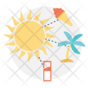 Summer Vacation Planning Icon