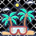 Summer Vacations Summer Holidays Beach Vacations Icon