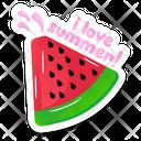 Summer Watermelon Icon
