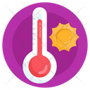 Summer Weather Hot Temperature Sunny Day Icon