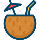Summertime Cocktail Coconut Icon