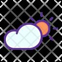 Sun Cloud Day Icon