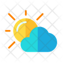 Sun Energy Cloudy Sun Icon