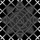 Sun Art Aztec Icon
