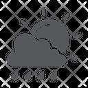 Sun Rain Cloud Icon