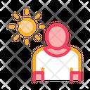 Sun Exposure Man Icon