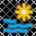 Sea Ocean Sun Icon