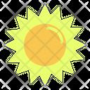 Sun Light Danger Icon