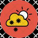 Sun Cloud Snow Icon