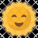 Sun Smiley Emoji Icon
