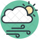 Sun Cloud Winds Icon