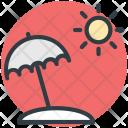 Sun Beach Umbrella Icon