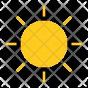 Bright Hot Sun Icon