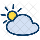 Sun Cloud Cloudy Icon