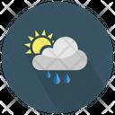 Sun And Rainy Cloud Icon
