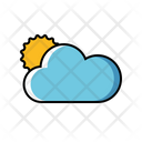 Sun Behind Cloud Cloudy Weather Cloud Icon
